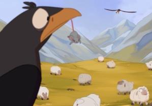 Le Corbeau voulant imiter l'Aigle