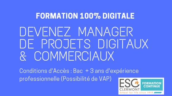 Devenez Manager de projets en E - Commerce et Design d'Expérience  avec ce programme 100% digital et obtenez le grade de Bachelor en Management  (Bac +3)