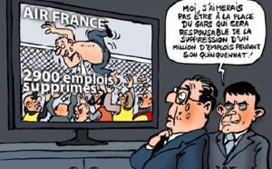 La chemise déchirée du DRH d'Air France