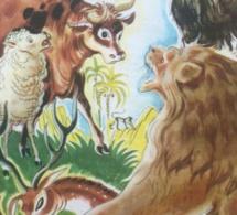 La Génisse la Chèvre et la Brebis en société avec le Lion