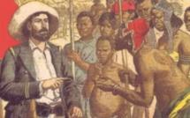 L'explorateur blanc et ses porteurs indigènes